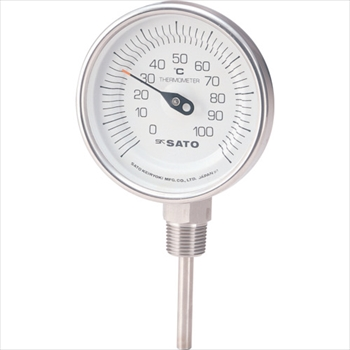 (株)佐藤計量器製作所 佐藤  バイメタル温度計BMーS型 [ BMS90S2 ]
