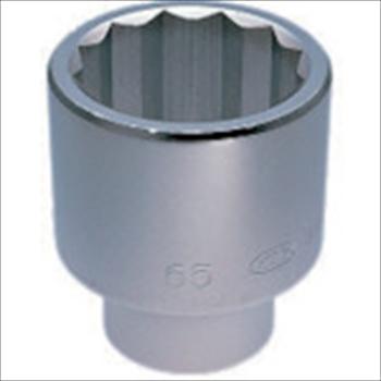 京都機械工具(株) KTC 25.4sq.ソケット(十二角)75mm [ B5075 ]