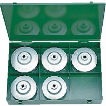 京都機械工具(株) KTC 大径用カップ型オイルフィルタレンチセット[5コ組] [ AVSA5 ]