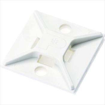 パンドウイットコーポレーション パンドウイット マウントベース ゴム系粘着テープ付き 白 (500個入) [ ABM2SAD ]