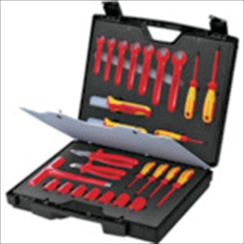 新しい到着 ]:ダイレクトコム [ ~ProTool館~ KNIPEX 絶縁工具セット 26点セット 989912 KNIPEX社-DIY・工具