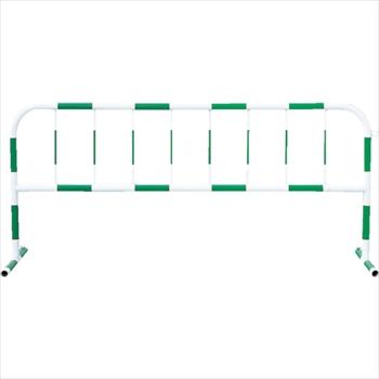 トーグ安全工業(株) トーグ カラーパイプバリケード緑反射白 [ CB3 ]