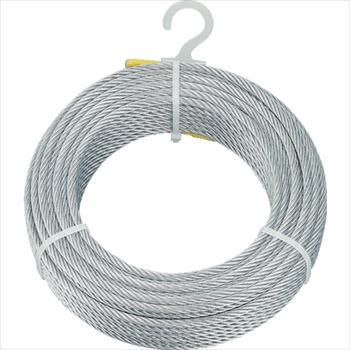 トラスコ中山(株) TRUSCO メッキ付ワイヤロープ Φ6mmX200m [ CWM6S200 ]