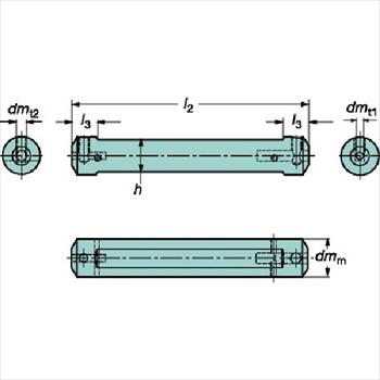 サンドビック(株)コロマントカンパニー サンドビック コロターンXS 小型旋盤アダプタ [ CXSA2006 ]