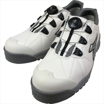 ドンケル(株) ディアドラ DIADORA安全作業靴 フィンチ 白/銀/白 28.0cm [ FC181280 ]