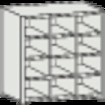 トラスコ中山(株) TRUSCO KB型区分棚コボレ止め付 889X264XH927 3列4段 [ KB3043 ]