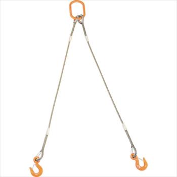 トラスコ中山(株) TRUSCO 2本吊りWスリング フック付き 9mmX1.5m [ GRE2P9S1.5 ]