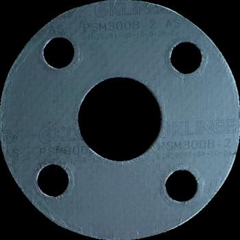 クリンガー社 クリンガー 膨張黒鉛ガスケット(ステンレス爪付鋼板入り) 5枚入り [ PSM10K65A ]