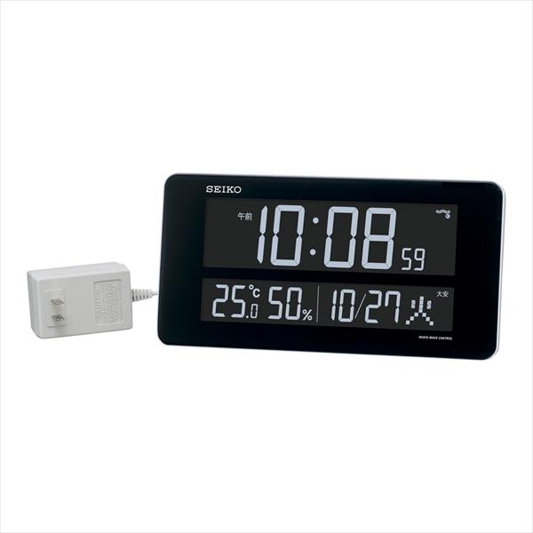 セイコークロック 交流式電波時計 [DL208W] [7-2502-0401] ZTK6201