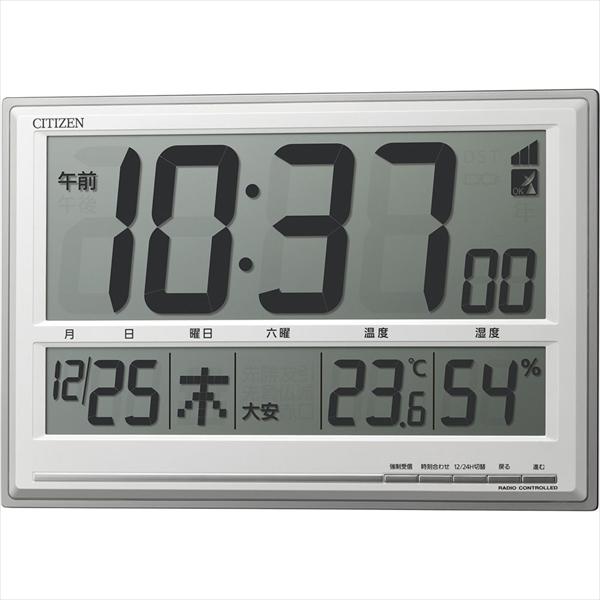 リズム時計工業 シチズン 掛置兼用電波時計 [8RZ199-019] [7-2502-0101] ZTK6301