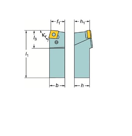 サンドビック(株)コロマントカンパニー サンドビック T-Max P ネガチップ用シャンクバイト [ PCBNL2525M12 ]