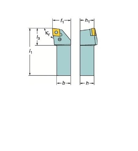 サンドビック(株)コロマントカンパニー サンドビック T-Max P ネガチップ用シャンクバイト [ PCLNR1616H12M ]