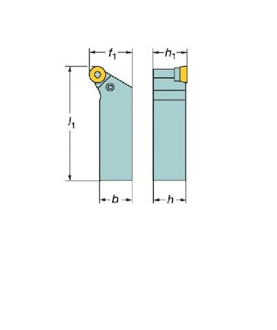 サンドビック(株)コロマントカンパニー サンドビック T-Max P ポジチップ用シャンクバイト [ PRGCR2525M12 ]