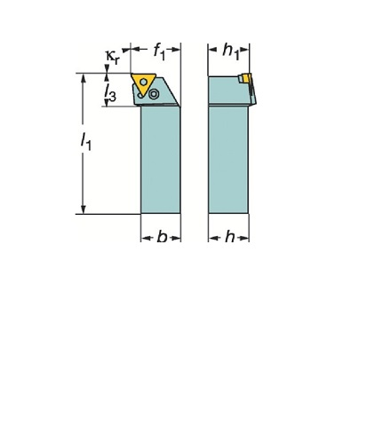 サンドビック(株)コロマントカンパニー サンドビック T-Max P ネガチップ用シャンクバイト [ PTFNR2525M22 ]