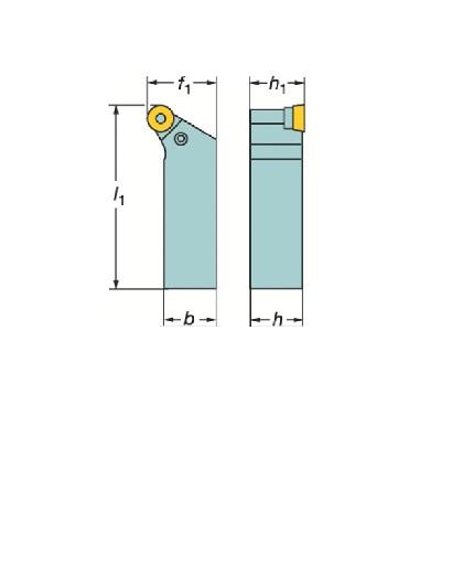 サンドビック(株)コロマントカンパニー サンドビック T-Max P ポジチップ用シャンクバイト [ PRGCL2525M12 ]