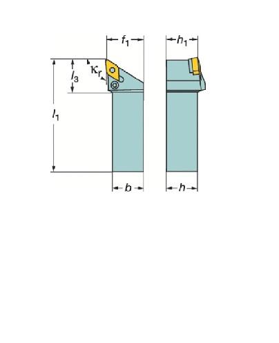サンドビック(株)コロマントカンパニー サンドビック T-Max P ネガチップ用シャンクバイト [ PDJNR3225P15S04 ]