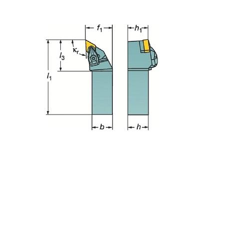 サンドビック(株)コロマントカンパニー サンドビック コロターンRC ネガチップ用シャンクバイト [ DDJNL2525M1504 ]
