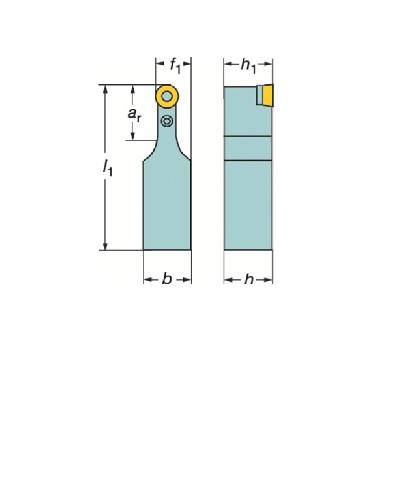 サンドビック(株)コロマントカンパニー サンドビック T-Max P ポジチップ用シャンクバイト [ PRDCN3225P16 ]