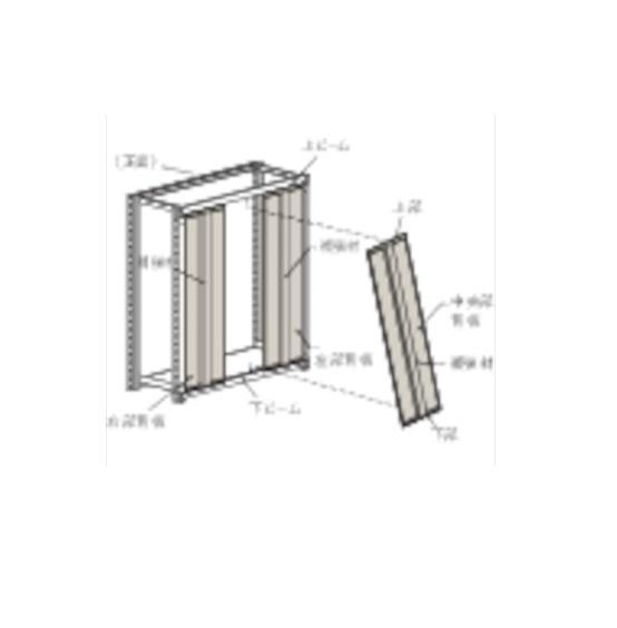 トラスコ中山(株) TRUSCO M3・M5型棚用はめ込み式背板 1500XH1800 ネオグレー [ SMM65 ]