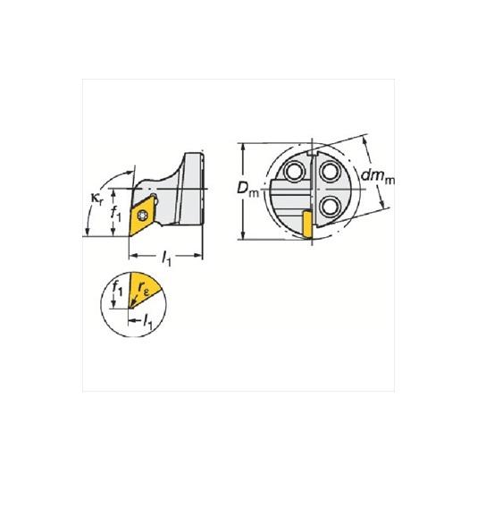 サンドビック(株)コロマントカンパニー サンドビック コロターンSL コロターン111用カッティングヘッド [ 570SDUPL1607 ]