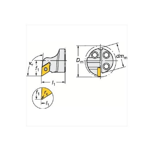 サンドビック(株)コロマントカンパニー サンドビック コロターンSL コロターン111用カッティングヘッド [ 570SDUPR2007 ]