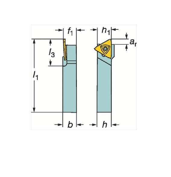 サンドビック(株)コロマントカンパニー サンドビック コロカット3 突切り・溝入れシャンクバイト [ RF123T061212BM ]