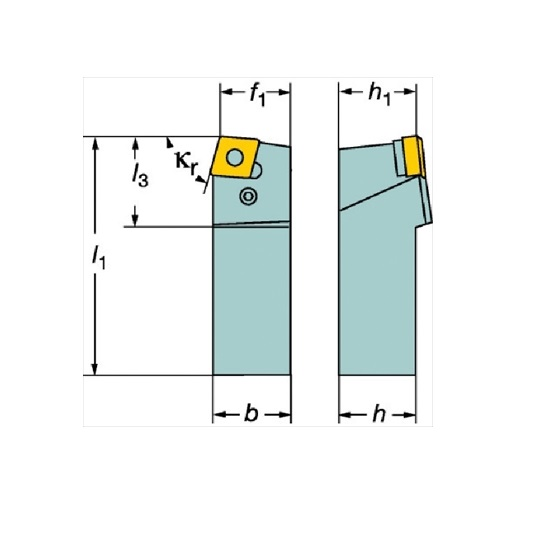 サンドビック(株)コロマントカンパニー サンドビック T-Max P ネガチップ用シャンクバイト [ PCBNL2525M16 ]
