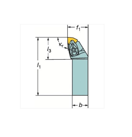 サンドビック(株)コロマントカンパニー サンドビック コロターンRC ネガチップ用シャンクバイト [ DWLNR3225P08 ]