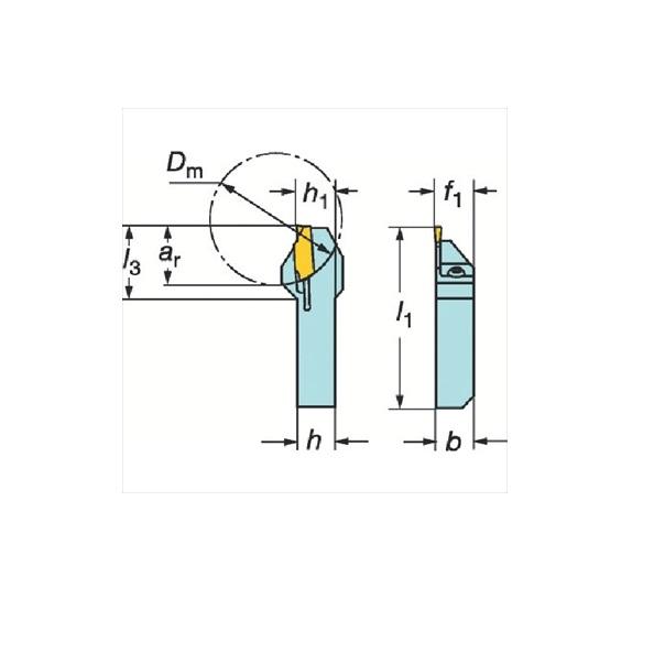 サンドビック(株)コロマントカンパニー サンドビック QSホールディングシステム コロカット1・2用突切り・溝入れバイト [ QSLF123D111212B ]