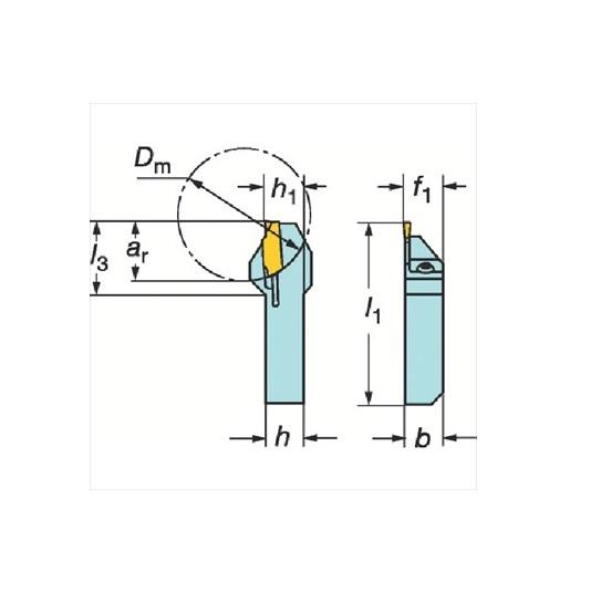 サンドビック(株)コロマントカンパニー サンドビック QSホールディングシステム コロカット1・2用突切り・溝入れバイト [ QSLF123E171616B ]