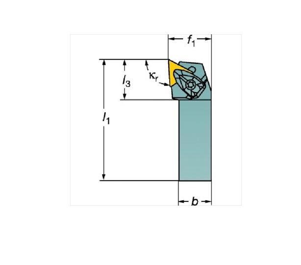 サンドビック(株)コロマントカンパニー サンドビック コロターンRC ネガチップ用シャンクバイト [ DTJNL2525M16 ]