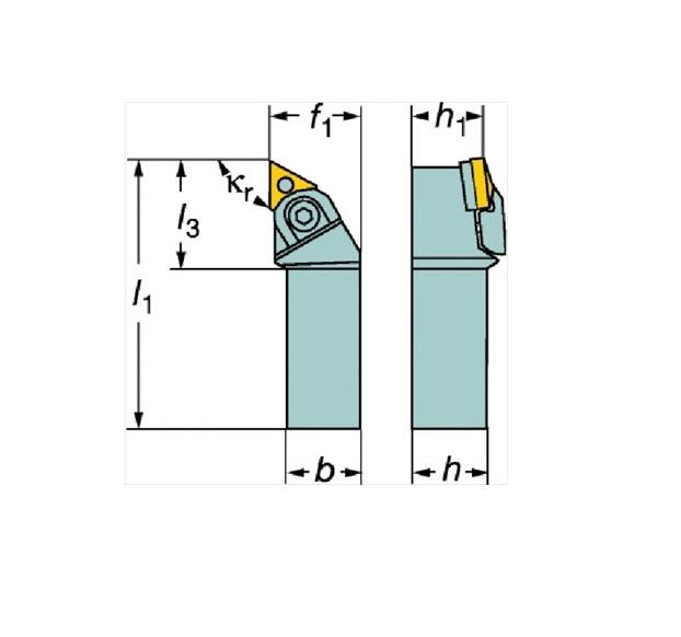 サンドビック(株)コロマントカンパニー サンドビック T-Max P ネガチップ用シャンクバイト [ MTGNR3232P22M1 ]