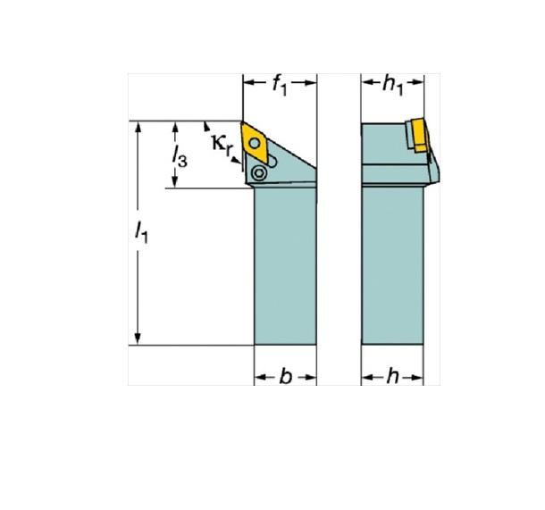サンドビック(株)コロマントカンパニー サンドビック T-Max P ネガチップ用シャンクバイト [ PDJNR1616H11 ]