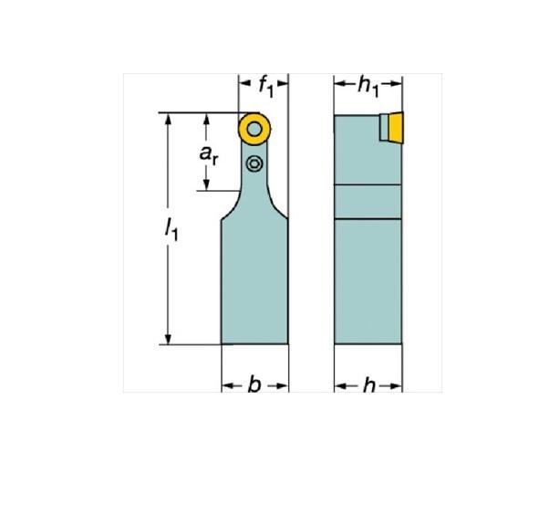 サンドビック(株)コロマントカンパニー サンドビック T-Max P ポジチップ用シャンクバイト [ PRDCN3232P20 ]