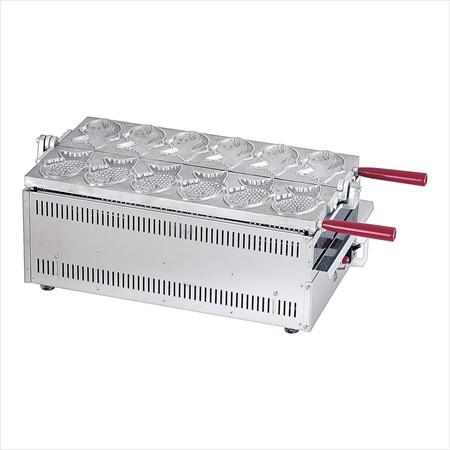 電気式 たい焼き機 1連式6匹焼  TAS-01 7-0932-0501 gti3301