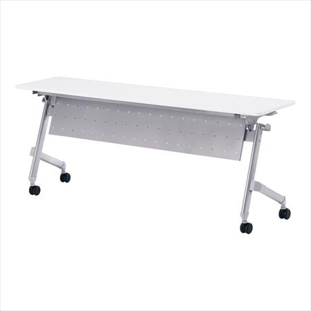 直送品■ 会議テーブル ホールディング パネル付 [ATN-P1845 ホワイト] [7-2410-0101] UTCX201