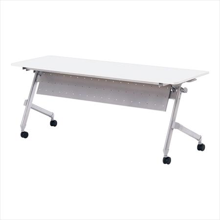 直送品■ 会議テーブル ホールディング パネル付 [ATN-P1860 ホワイト] [7-2410-0102] UTCX202