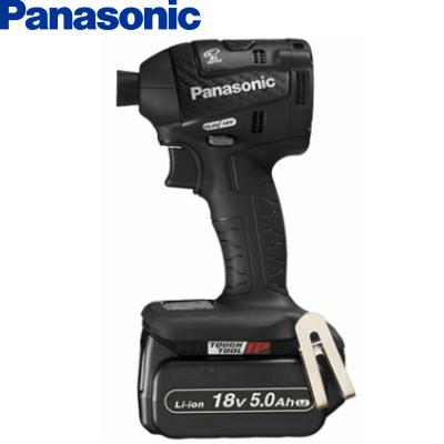 【美品】 Panasonic パナソニック 18V ~ProTool館~ 5.0Ah 充電式インパクトドライバー EZ75A7LJ2G-B 【フルセット】 黒:ダイレクトコム-DIY・工具