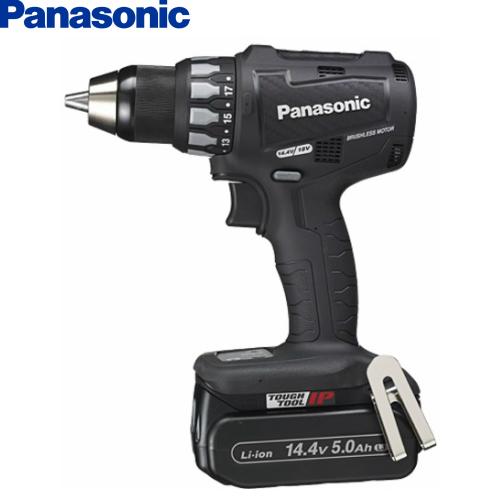 パナソニックPanasonic14.4V5.0Ah 充電ドリルドライバー EZ74A2LJ2F-B【フルセット】 黒【H02】