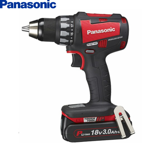 パナソニック Panasonic 18V 3.0Ah 充電ドリルドライバー EZ74A2PN2G-R 【フルセット】 赤