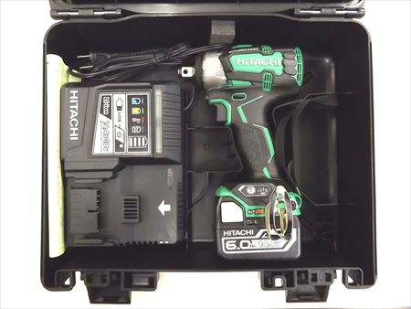 HiKOKI[日立工機] 14.4V充電式インパクトレンチWR14DBDL2 (LYPK)【6.0Ah電池1個仕様】【H02】