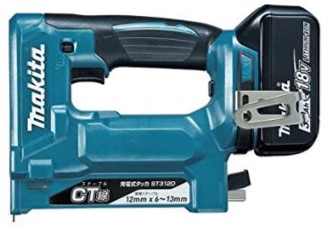 マキタ 18V (3.0Ah) 充電式タッカ ST312DRF 青 【フルセット】※ステープルCT線専用【M03】
