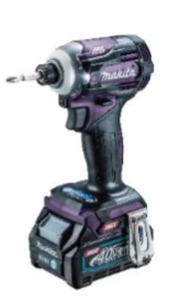 マキタ 40V (2.5Ah) 充電式インパクトドライバTD001GDXAP【フルセット】 紫【M03】