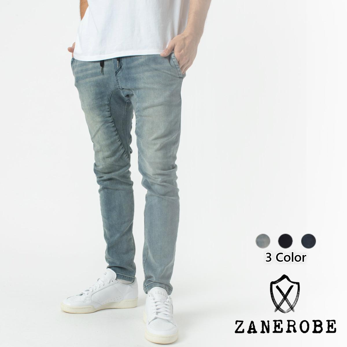 黒[衣類] Chino チノパン Sureshot メンズ ゼインローブ 3色 デニム ZANEROBE ブラック ブルー Pant Flex ジーンズ ジョガーパンツ ボトムス
