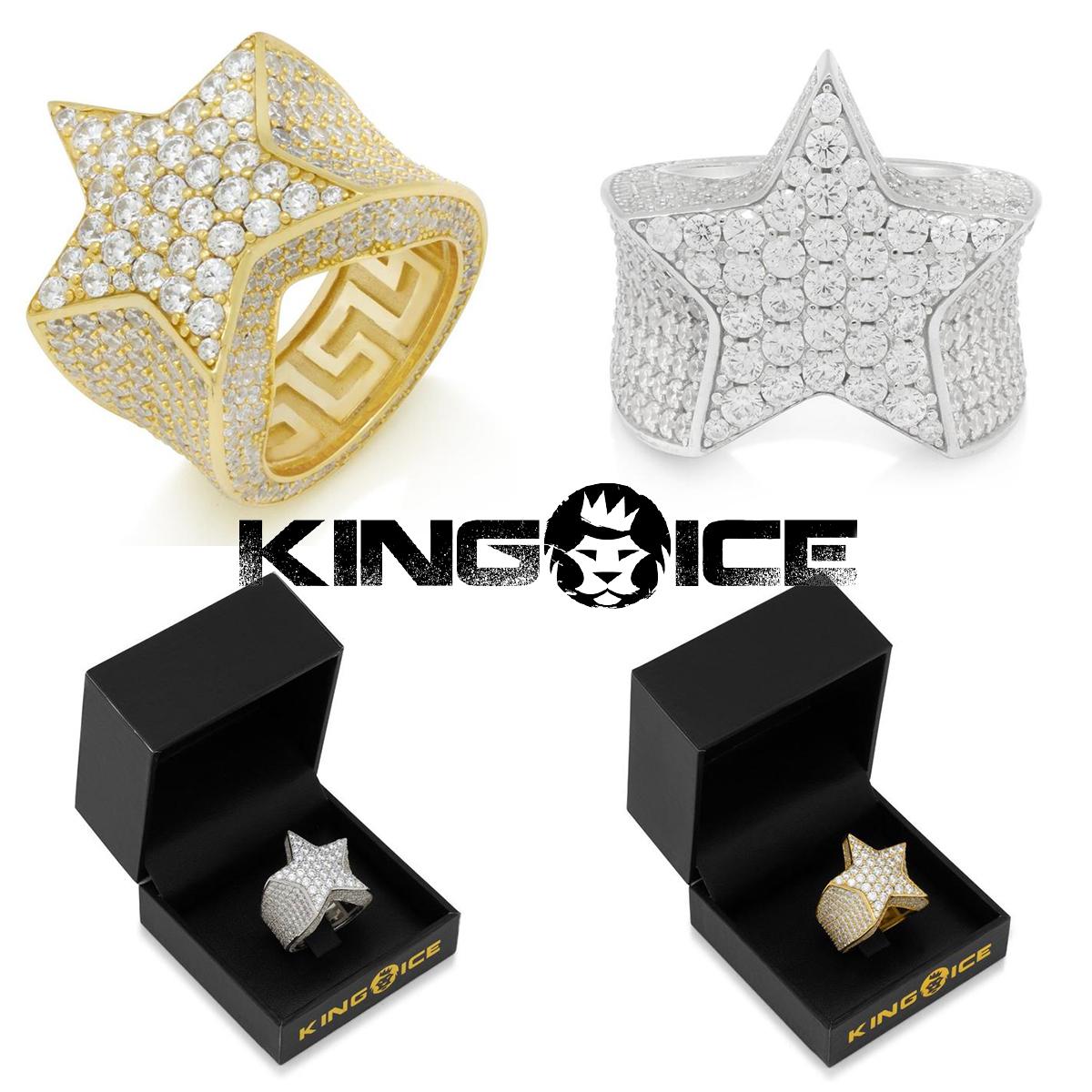 送料無料 KING ICE キングアイス 指輪 リング SHOOTING ふるさと割 STAR RING 金 定価の67%OFF メンズ ブランド GOLD WHITE 人気 14kゴールド アクセサリー