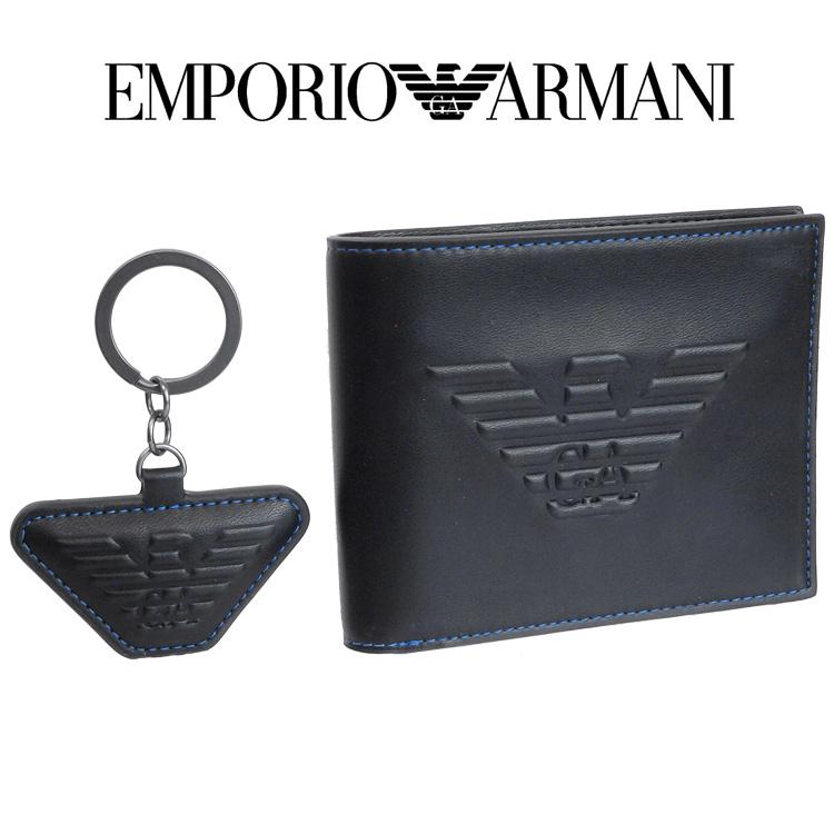 エンポリオアルマーニ EMPORIO ARMANI 財布 キーリング セット イーグル マキシロゴ 二つ折り財布 Y4R174-YG90J-81072【ギフト財布】【Spring Sale】
