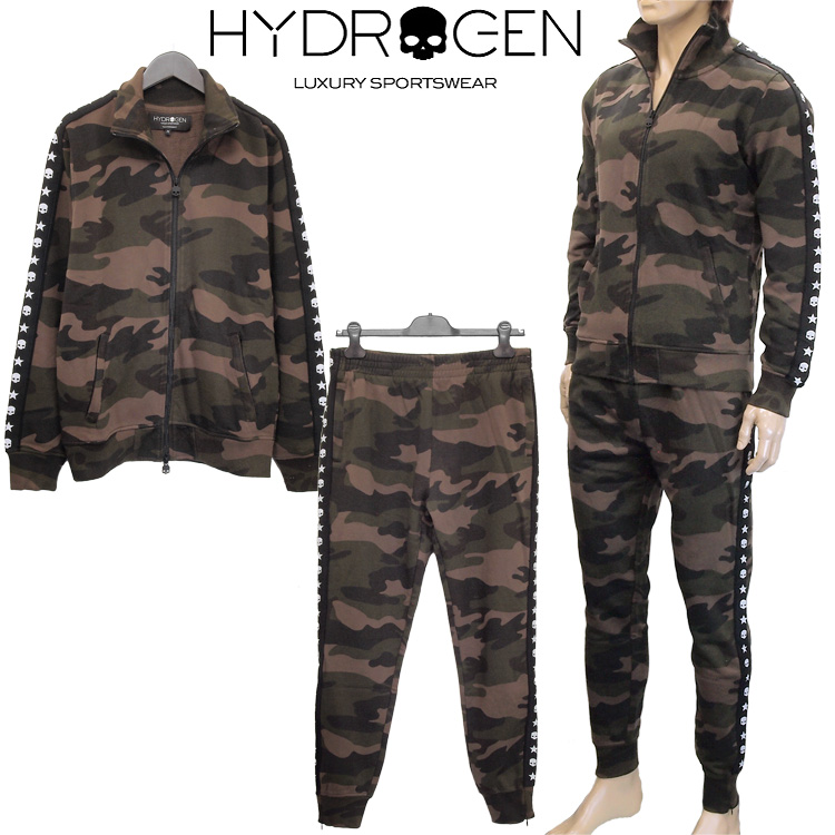ハイドロゲン HYDROGEN セットアップ/スウェット パンツ 上下セット 230606/230608-060 CAMOUFLAGE 迷彩