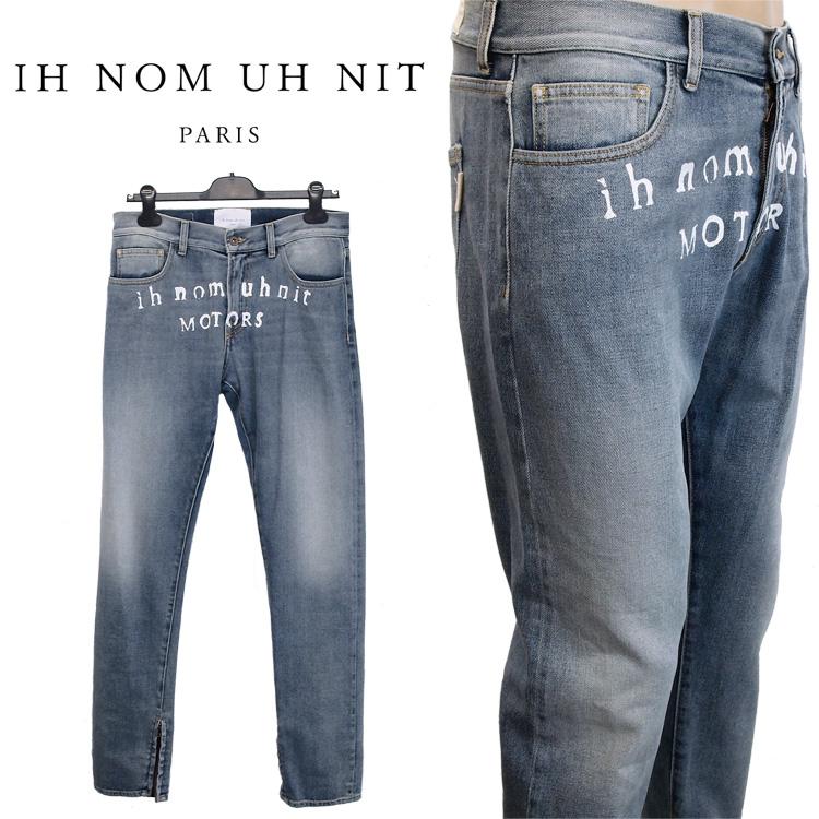 インノミネイト IH NOM UH NIT ジーンズ フロントロゴ 裾ジップ I0812-089【セール-i】