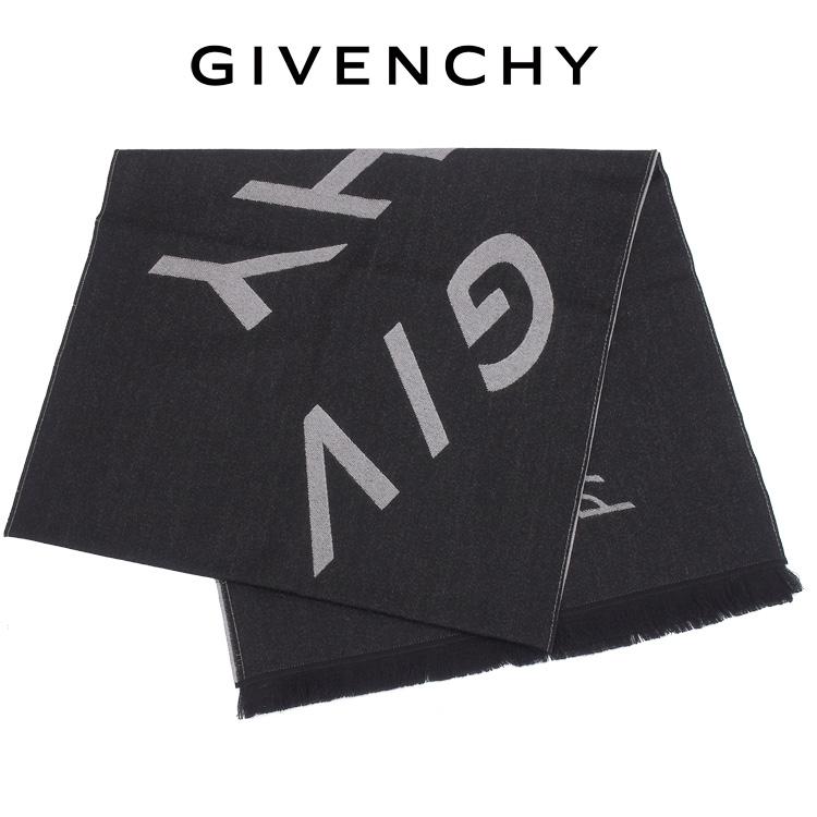 ジバンシィ GIVENCHY マフラー バージンウール リフレクトロゴ フリンジ GV4518-J3055-1【ギフト雑貨】