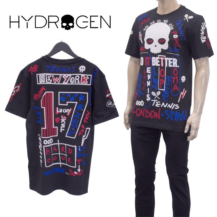 HYDROGEN Tシャツ 半袖 レビューを書けば送料当店負担 B06_BLACK RED BLUETC0001 ハイドロゲン グラフィティー GARAFITTI カットソー 低廉 BLUE TC0001-B06_BLACK TEE ティーシャツ スカル